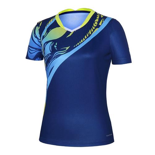 波力1CTL19012女子羽毛球短袖