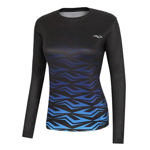 波力1CTL17090女子羽毛球长袖T恤