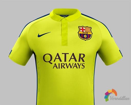 耐克发布巴塞罗那2014/15赛季第二客场球衣