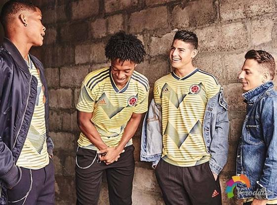 哥伦比亚国家队2019美洲杯主场球衣发布