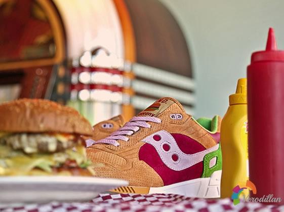 美食诱惑:SAUCONY SHADOW 5000 BURGER联名鞋款
