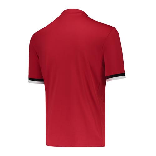 阿迪达斯曼联天然红男子短袖足球服图4高清图片