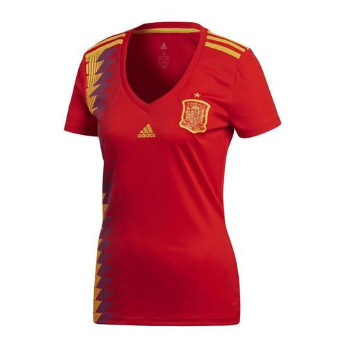 阿迪达斯BR2716西班牙女足短袖