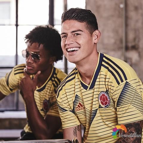 哥伦比亚国家队2019赛季主场球衣亮相美洲杯