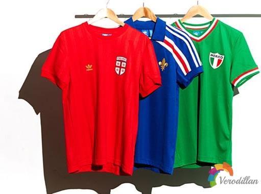 阿迪达斯推出7个国家世界杯复古球衣