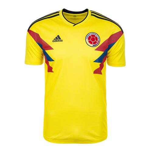 阿迪达斯CW1526哥伦比亚国家队主场比赛服