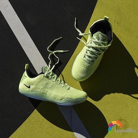 Nike Kobe XI Elite Low 4KB Liquid Lime配色设计简评