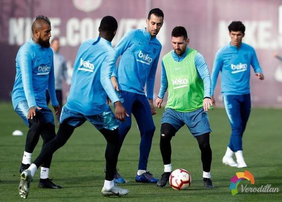 梅西训练上脚全新adidas Nemeziz Messi 19.1足球鞋