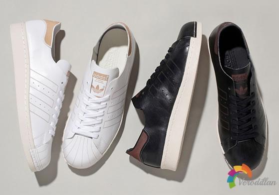 adidas Originals SUPERSTAR 80s DECON,一整张皮革雕刻而成
