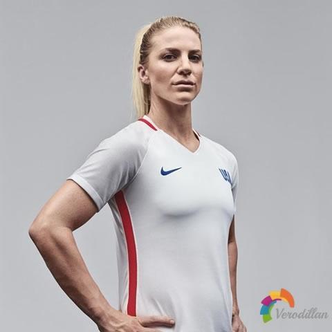 极简设计风格:美国女足2016里约奥运会主场球衣