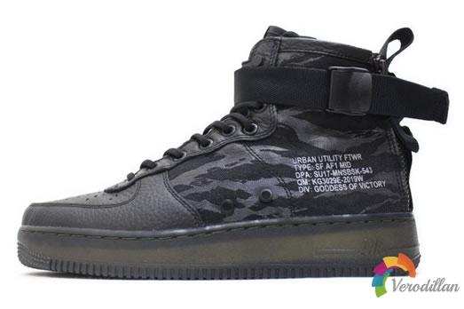 Nike SF-AF1 Mid Tiger Camo,全黑配色尽显细节