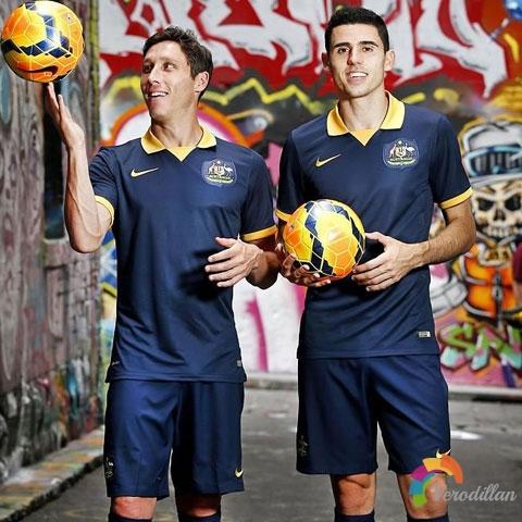澳大利亚发布2014世界杯客场球衣
