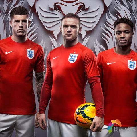 向经典致敬:英格兰国家队2014世界杯客场球衣