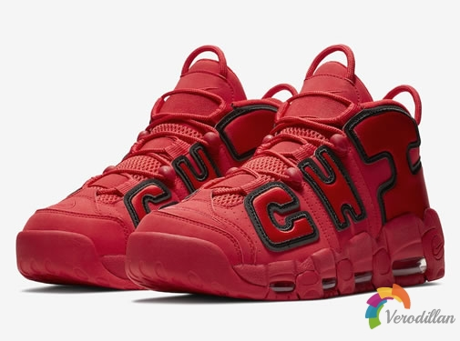 Nike Air More Uptempo CHI University Red芝加哥配色