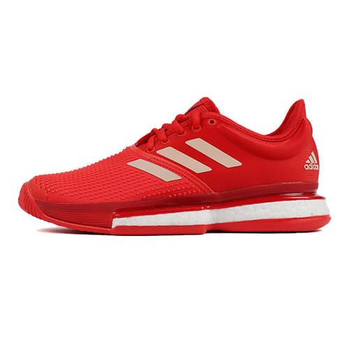 阿迪达斯EF2074 SoleCourt Boost女子网球鞋