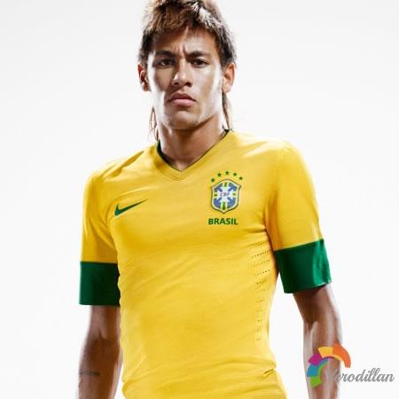 为足球而生:巴西国家队2012/13赛季主场球衣