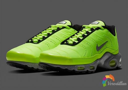 近观Nike Air Max Plus Premium全新荧光绿配色