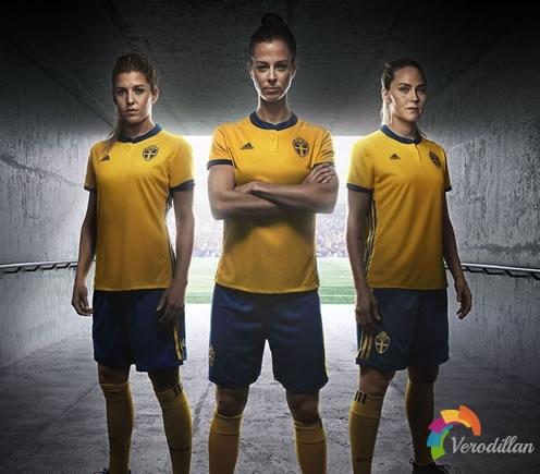 瑞典女足2017主客场球衣亮相欧洲杯