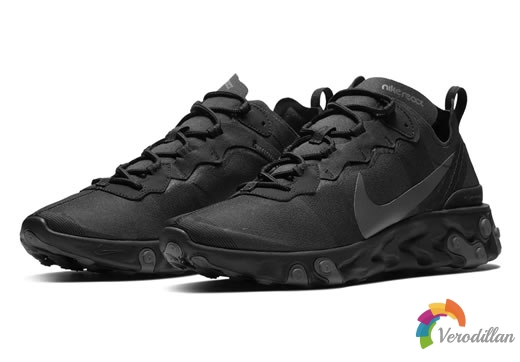 简约俐落:Nike React Element 55 Triple Black配色