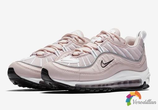 异材质拼接:Nike Air Max 98 Barely Rose配色