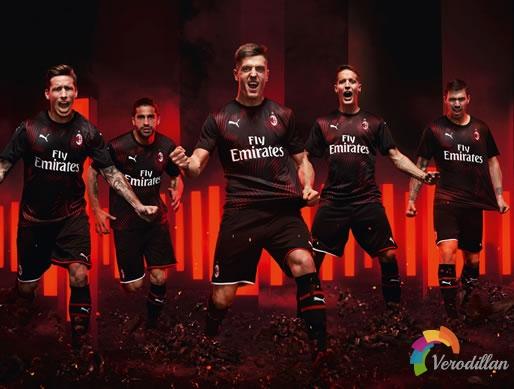 铭刻初心:AC米兰2019/20赛季第二客场球衣