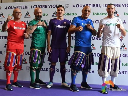 紫百合佛罗伦萨发布2017/18赛季主客场球衣
