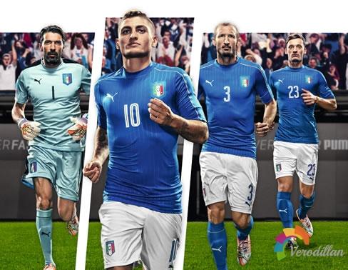 时尚古典:意大利国家队2016欧洲杯主场球衣