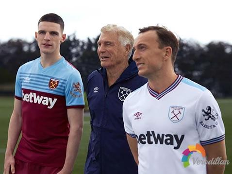 铁锤帮西汉姆联发布2019/20赛季主客场球衣
