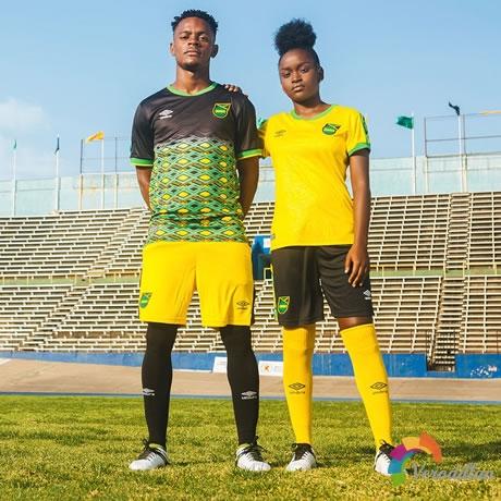 雷鬼男孩:牙买加国家队发布2018/19赛季主客场球衣图2