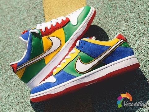 鸳鸯设计拼接:乐高 x Nike SB联名板鞋