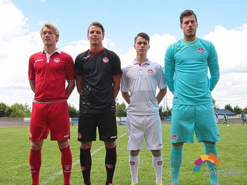 凯泽斯劳滕官方宣布2015/16赛季主客场球衣