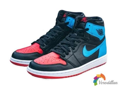 Air Jordan 1(AJ1)新色,黑红与北卡蓝相结合