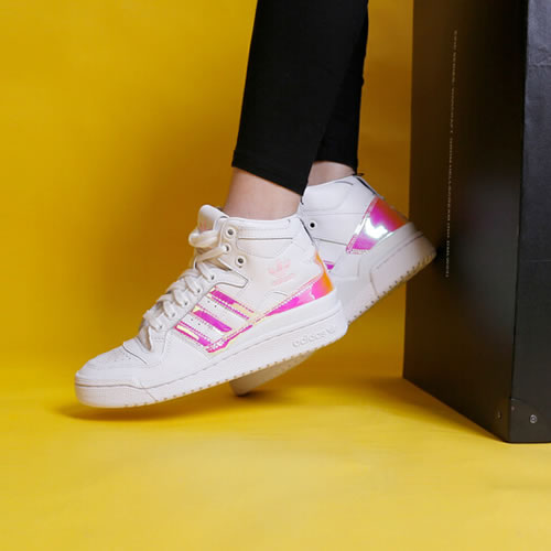 阿迪达斯D98180 FORUM MID W女子运动鞋图6