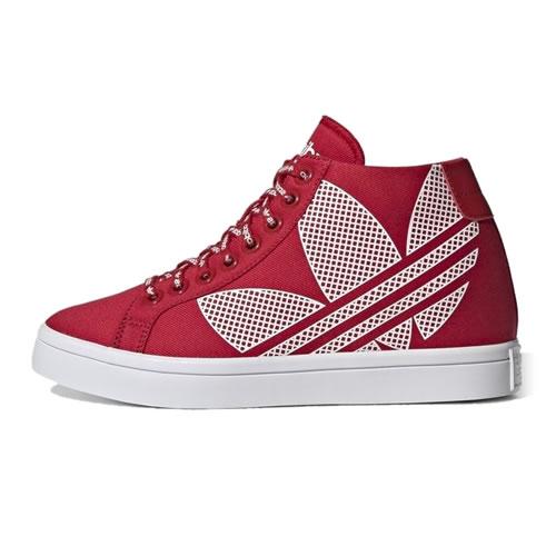 阿迪达斯FU6821 COURTVANTAGE HEEL LOGO女子运动鞋图1高清图片