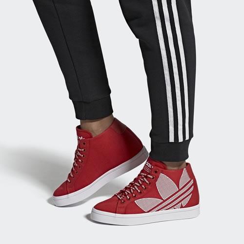 阿迪达斯FU6821 COURTVANTAGE HEEL LOGO女子运动鞋图6