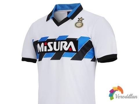 国际米兰1990/91赛季官方复刻球衣,重回三驾马车时代