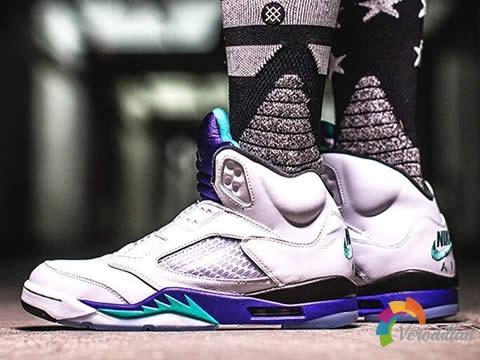 Air Jordan V(AJ5)紫葡萄配色,无鞋带才是真实力