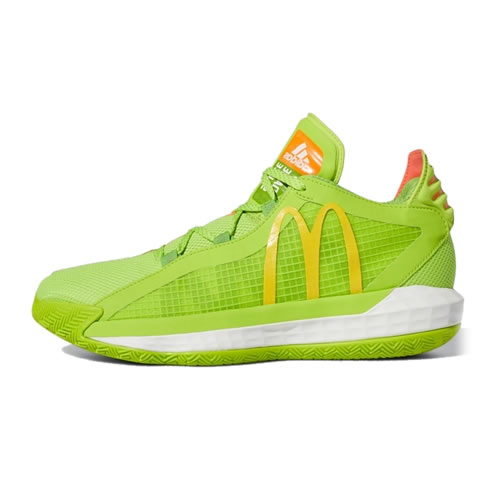 阿迪达斯FX3334 Dame 6 GCA McDonalds男子篮球鞋图1高清图片