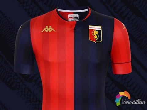 红蓝各半设计:热那亚2020/21赛季主场球衣