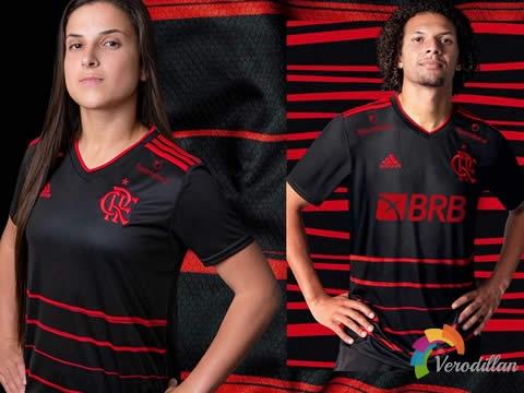 经典黑红搭配:弗拉门戈2020/21赛季第二客场球衣