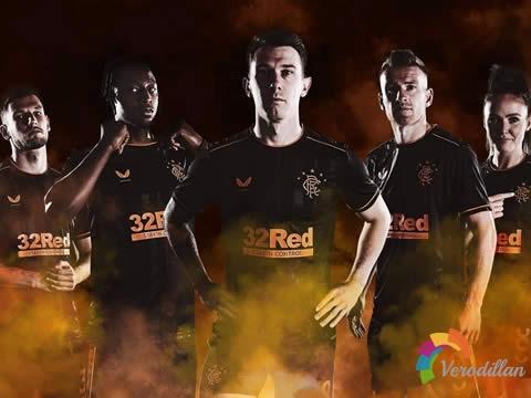 Castore发布格拉斯哥流浪者2020/21赛季第二客场球衣