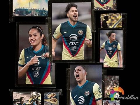 十年辉煌:墨西哥美洲2020/21赛季主场球衣
