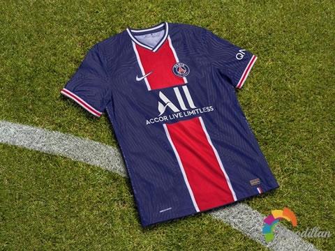 复古风格设计:巴黎圣日耳曼2020/21赛季主客场球衣