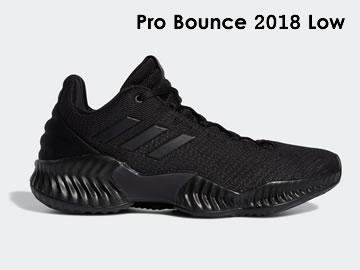 阿迪达斯Pro Bounce 2018 Low篮球鞋型号价格(全部配色)