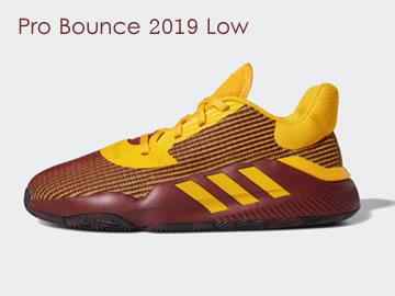 阿迪达斯Pro Bounce 2019 Low篮球鞋型号价格(全部配色)