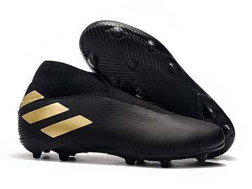 阿迪达斯足球鞋无鞋带黑色型号价格(全部配色)